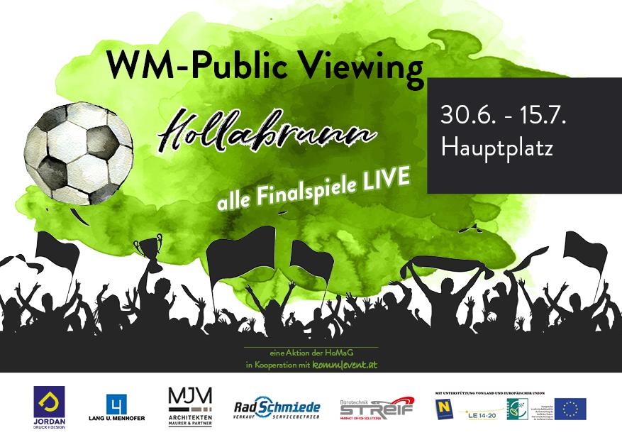 Public Viewing zur Fußball WM 2018
